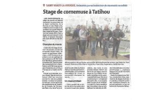 Stage de cornemuse coupure de presse de La Presse de la Manche